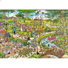 Jan van Haasteren Comic Puzzle - The Park (500 XL Pieces) - Jigsaws