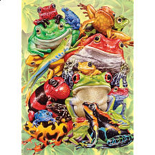 Frog Pile - Family Piece Puzzle -