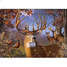 Deer and Pheasant - Large Piece -