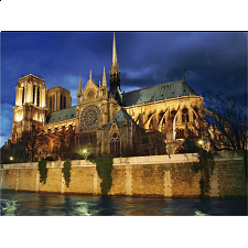 Notre Dame at Night -