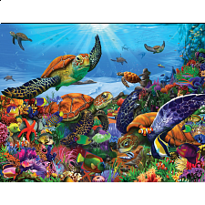 Amazing Sea Turtles - Large Piece - Large Piece Jigsaws