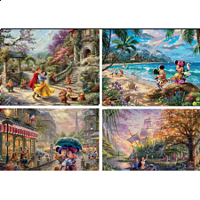 Thomas Kinkade: Disney 4 in 1 Jigsaw Puzzle Collection - New Items