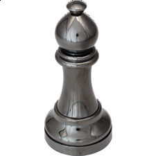 """Black"" Color Chess Piece - Bishop -"