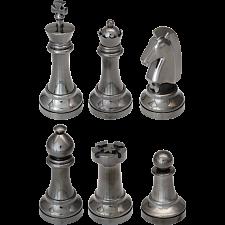 """""""Black"""" Color Chess Puzzle Set - 6 Pieces -"""