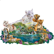 Tigers at the Pool - Shaped Jigsaw Puzzle - Search Results