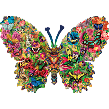 Butterfly Menagerie - Shaped Jigsaw Puzzle - Shaped