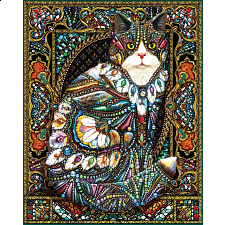 Jeweled Cat - 1000 Pieces