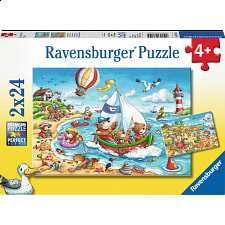 Seaside Holiday - 2 x 24 piece puzzles - 1-100 Pieces