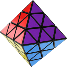 Taiwan Turn Face Octahedron - Black Body - Other Rotational Puzzles