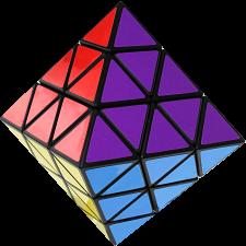 Taiwan Turn Face Octahedron - Black Body - Rubik's Cube & Others