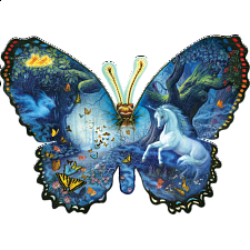 Fantasy Butterfly - Shaped Jigsaw Puzzle - Shaped