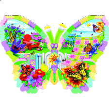 Butterfly Summer - Shaped Jigsaw Puzzle - New Items