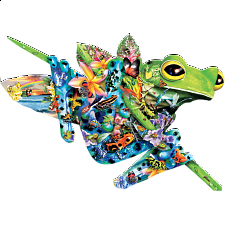 Paradise Frogs - Shaped Jigsaw Puzzle - Search Results