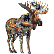Walk on the Wild Side - Shaped Jigsaw Puzzle -