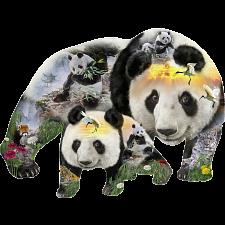 Panda-monium - Shaped Jigsaw Puzzle -