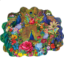 Garden Peacock - Shaped Jigsaw Puzzle - Shaped
