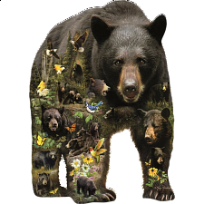 Forest Bear - Shaped Jigsaw Puzzle - Shaped