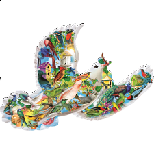 Feathered Friends - Shaped Jigsaw Puzzle - Shaped