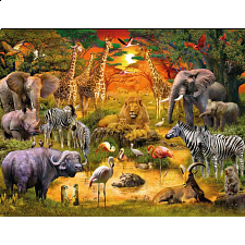 Gathering at the Waterhole - 1001 - 5000 Pieces