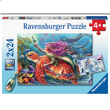 Mermaid Adventures - 2 x 24 piece puzzles - 1-100 Pieces