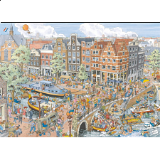 Cities of the World: Amsterdam - Prinsengracht / Brouwersgracht - 1000 Pieces