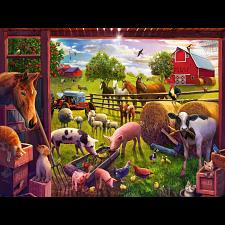 Animals of Bells Farm - Super Sized Floor Puzzle -
