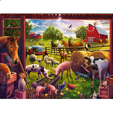 Animals of Bells Farm - Super Sized Floor Puzzle - 1-100 Pieces