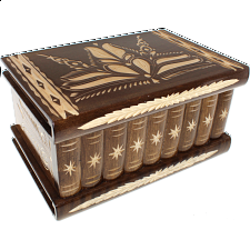Romanian Puzzle Box - Extra Large Brown - Wood Puzzles