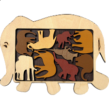 Constantin Puzzles: Elephant Parade - Other Wood Puzzles
