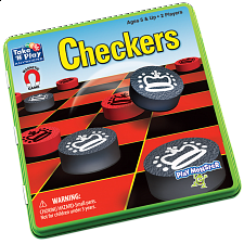 Take 'N' Play Anywhere Checkers Magnetic Game Tin -