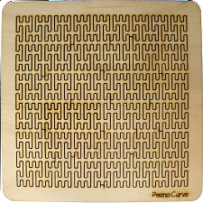 Wooden Fractal Tray Puzzle - Peano Curve -