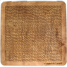 Wooden Fractal Tray Puzzle - Wunderlich Curve 3 -