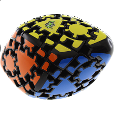 Curvy Gear Rhombohedron - Black Body -
