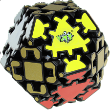 Gear Hexadecahedron - Black Body - Other Rotational Puzzles