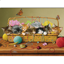 Basket Case - 350 Piece Family Puzzle - 101-499 Pieces