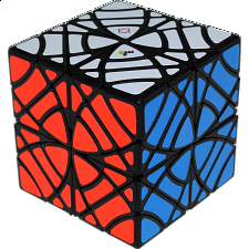 Twins Cube (Skewb Version) - Black Body - Other Rotational Puzzles