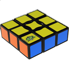 NEW 3x3x1 Super Floppy Cube - Black Body - Other Rotational Puzzles