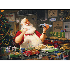 Santa Painting Cars -