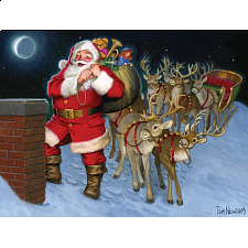 Santa By The Chimney - Tray Puzzle - Search Results