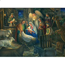 Away In A Manger - Large Piece - 500-999 Pieces