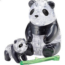 3D Crystal Puzzle - Panda & Baby -