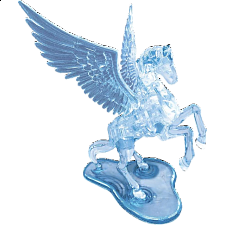 3D Crystal Puzzle Deluxe - Pegasus - 3D Crystal Puzzles