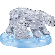 3D Crystal Puzzle - Polar Bear & Baby - More Puzzles