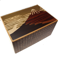 6 Sun 14 Step Mt. Fuji - Japanese Puzzle Boxes