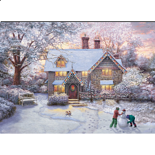 Thomas Kinkade: Christmas at Gingerbread Cottage - New Items