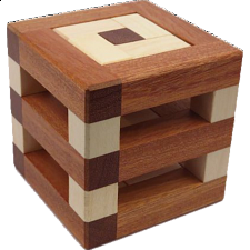 Rattle Twist V - European Wood Puzzles