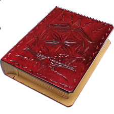 Romanian Secret Book Box - Burgundy Version 2 - Wood Puzzles