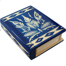 Romanian Secret Book Box - Pink - Wood Puzzles