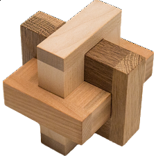 Cross Knot Pelikan - Wood Puzzles