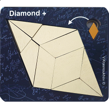 Diamond + - Krasnoukhov's Amazing Packing Problems -